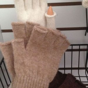 Fingerless Alpaca Fur Gloves