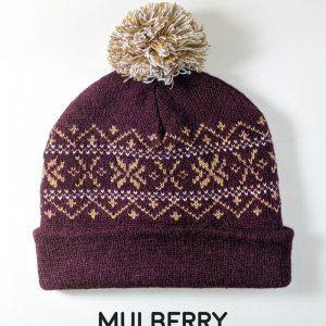 New Alpaca Fur Snowflake Pom Hat