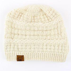 Textured Alpaca Slouch Beanie Hat