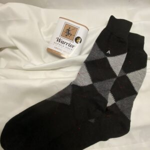 Warrior Alpaca Socks: Baby Alpaca Argyle Socks